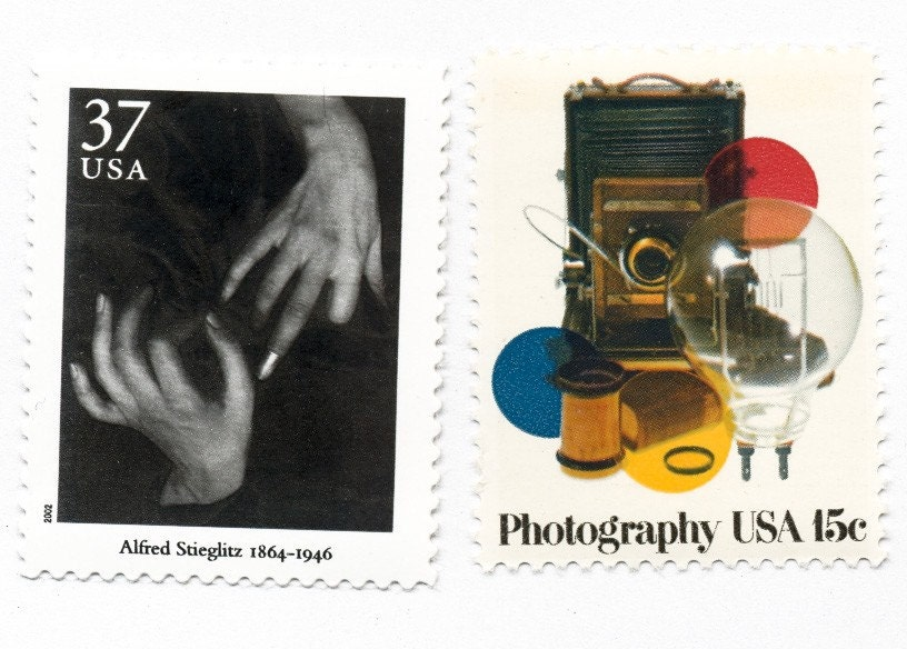 160 - The Photographer (Calligraphed valentine with vintage postage)