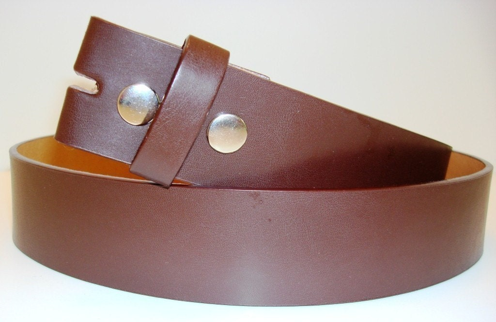 SALE Brown Leather Snap Belt You Deserve a Jada by MnMTreasures