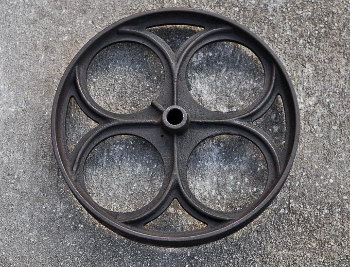 Vintage Cast Iron Wheel Sphere By BrandMOJOinteriors On Etsy