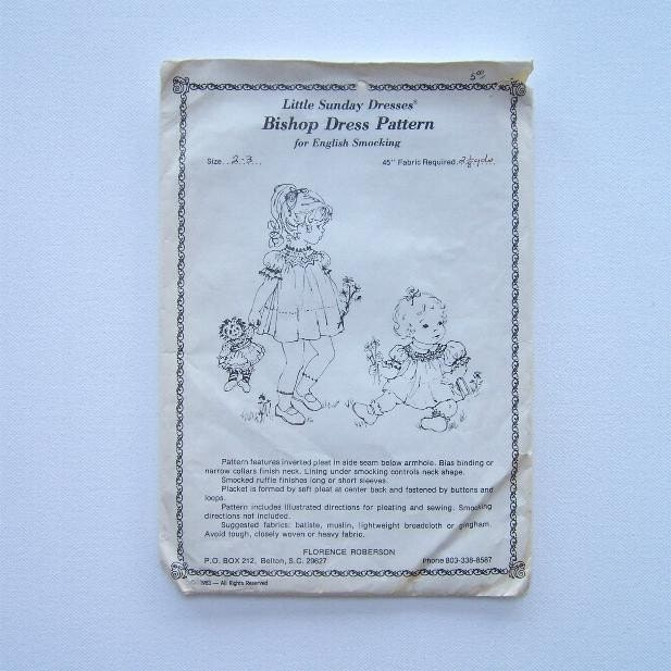 dress patterns for little girls. Girls Sewing Bishop Dress