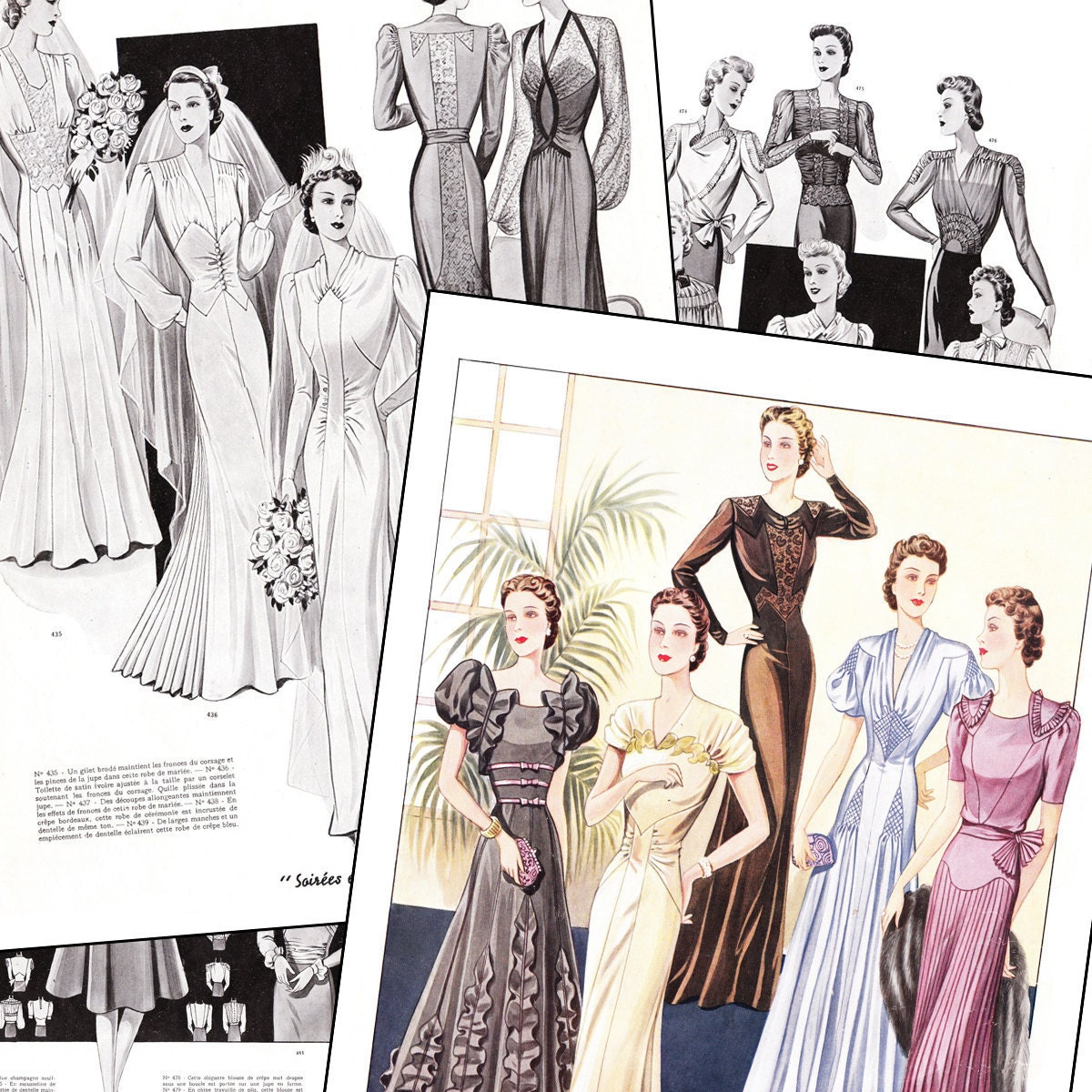 PDF of 40s haute couture Parisian sewing pattern catalog  Perfection  instant download