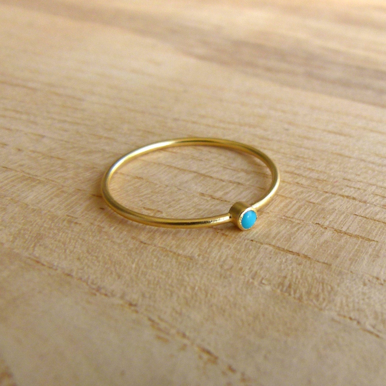 14k gold ring thin gold ring delicate gold rings by artemer