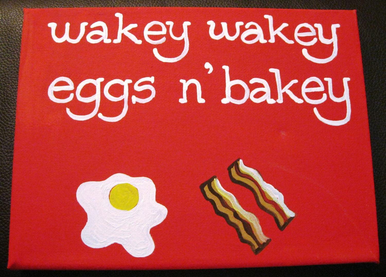 Wakey Wakey Eggs N' Bakey Painting