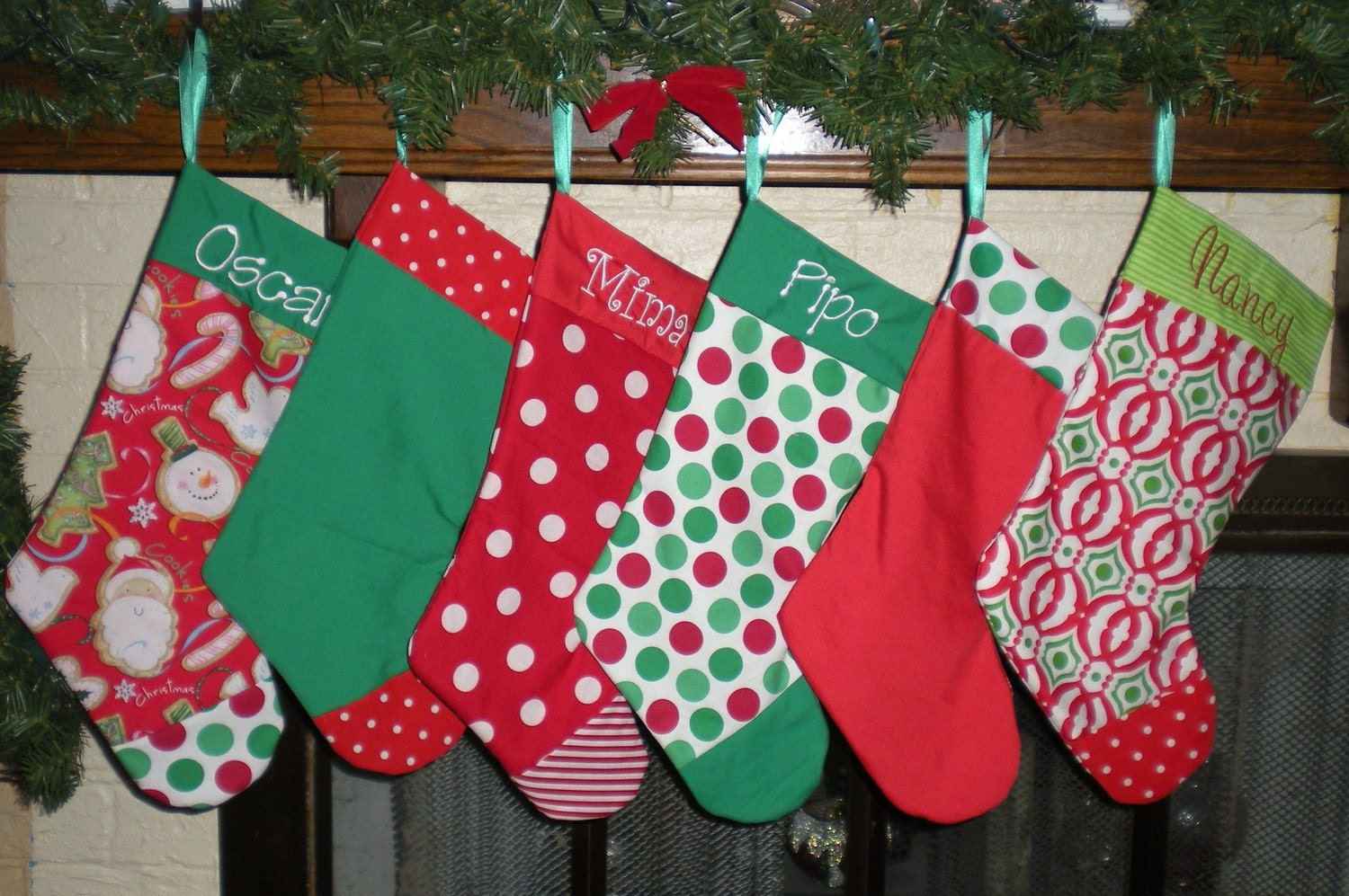 Custom Boutique Christmas Stocking YOU CHOSE Combination and Color Personalized