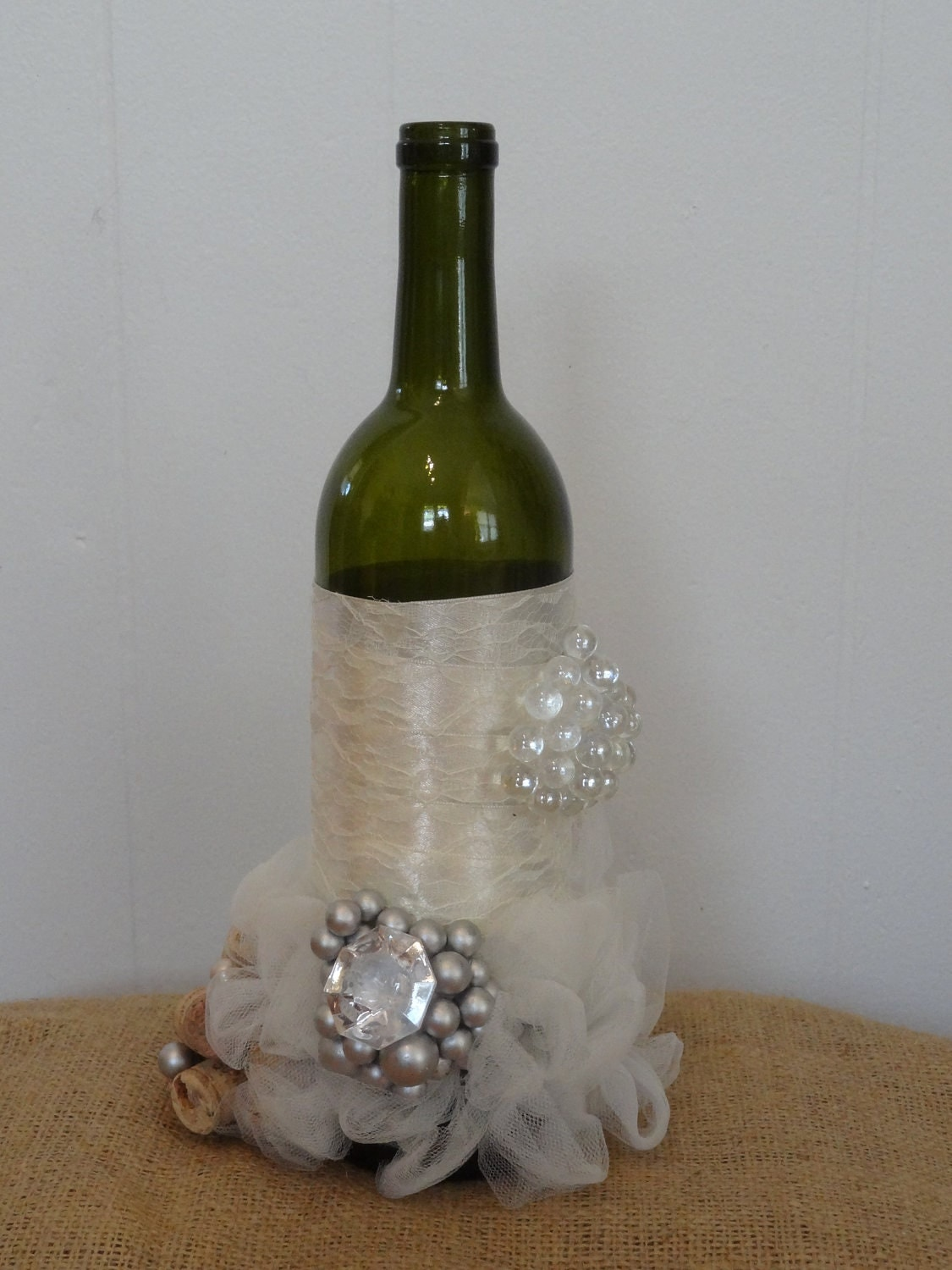 Items similar to Wine Bottle Wedding Centerpiece on Etsy
