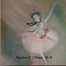 Ballet Dancer -  Print of Original Oil Painting on High Quality Gloss Poster Paper (24x18)