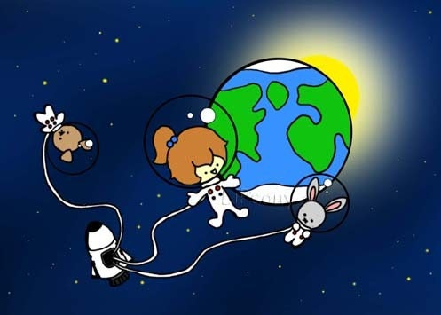 chibi astronaut - photo #7