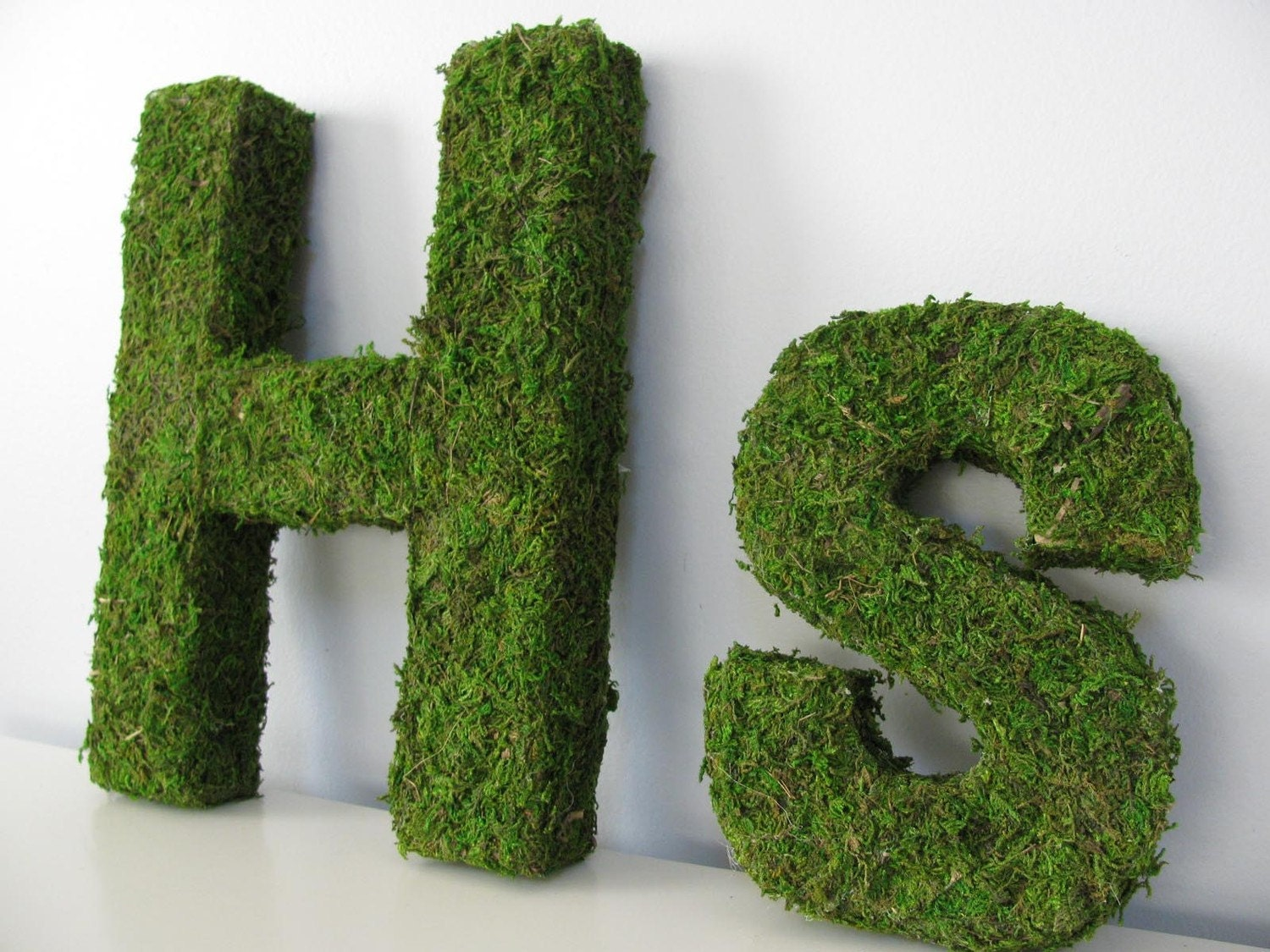Woodland Moss Covered Monogram Letter - Medium 12 inch Using Eco-Friendly Materials