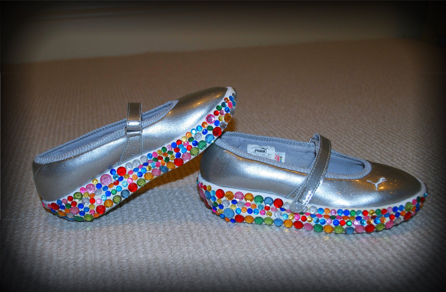 Girl's Rhinestone Mary Jane Running Shoes