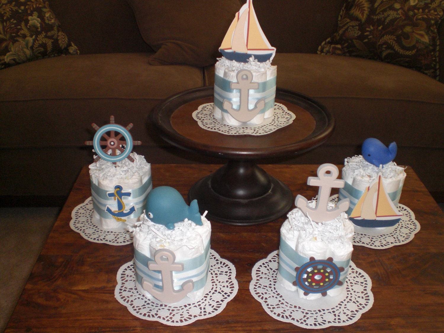 nautical baby shower centerpieces
