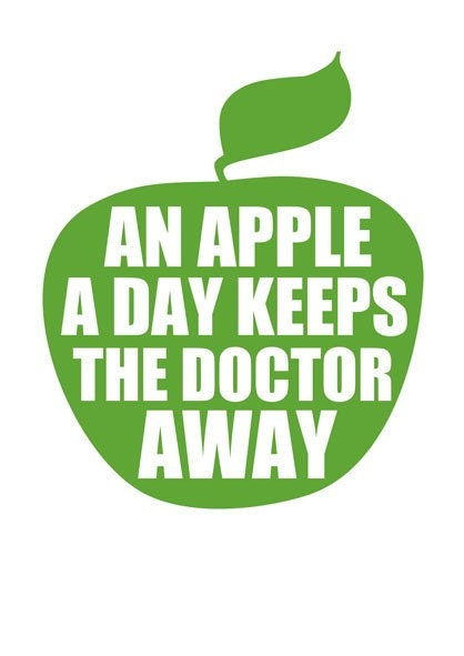 An apple a day keeps the doctor away. by Gayana on Etsy