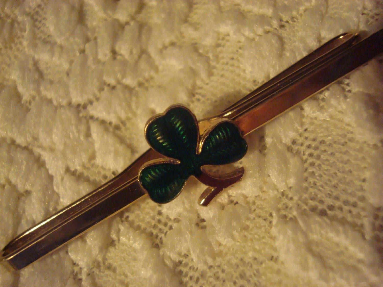 Tie Bar  Clover  Shamrock St. Patrick