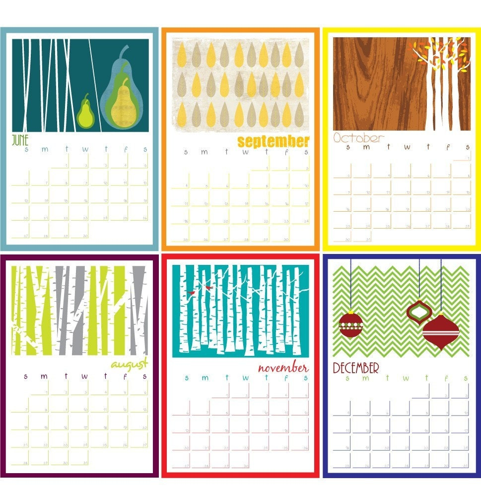 "2012 Wall Calendar - Large 8.5""x12"" size"