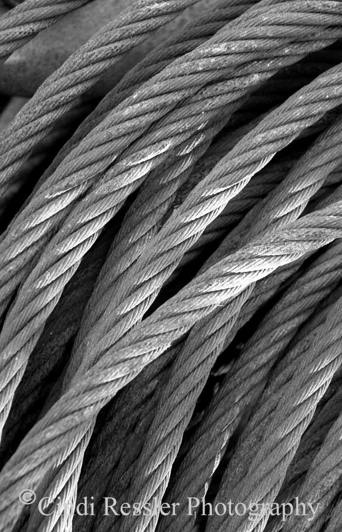 Fishing Ropes, 8x12 Fine Art Photography, Black and White Photography, Nautical Photography - CindiRessler