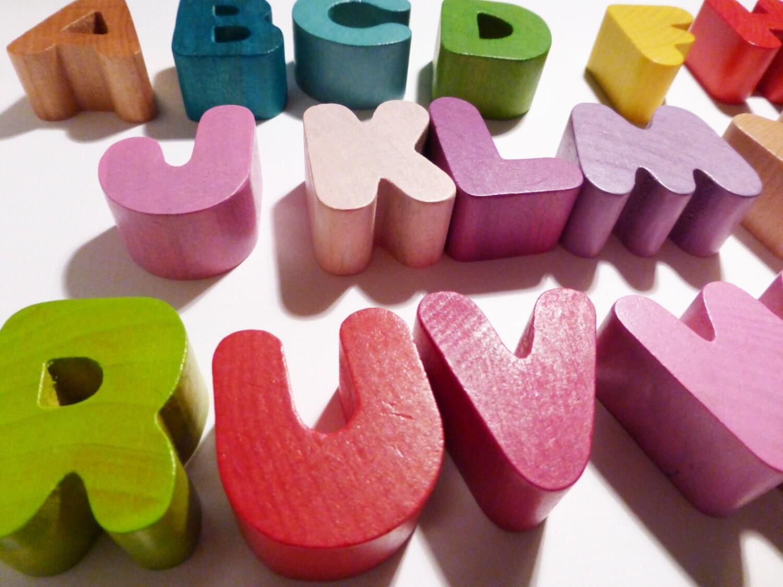 Wood Janod Alphabet Puzzle Letters - weandthebean