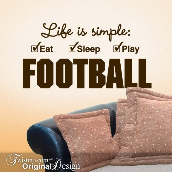 Dorm Room Wall Decor Etsy : Football sports decor for the man cave or dorm room by twistmo
