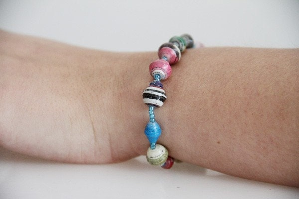 SPECIAL PRICE - Acholi Bangle Bracelet made from recycled paper