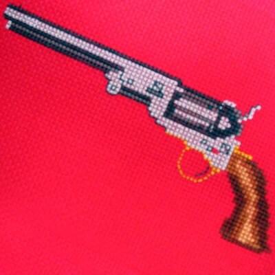 Annie's Sweatshop cross stitch guns