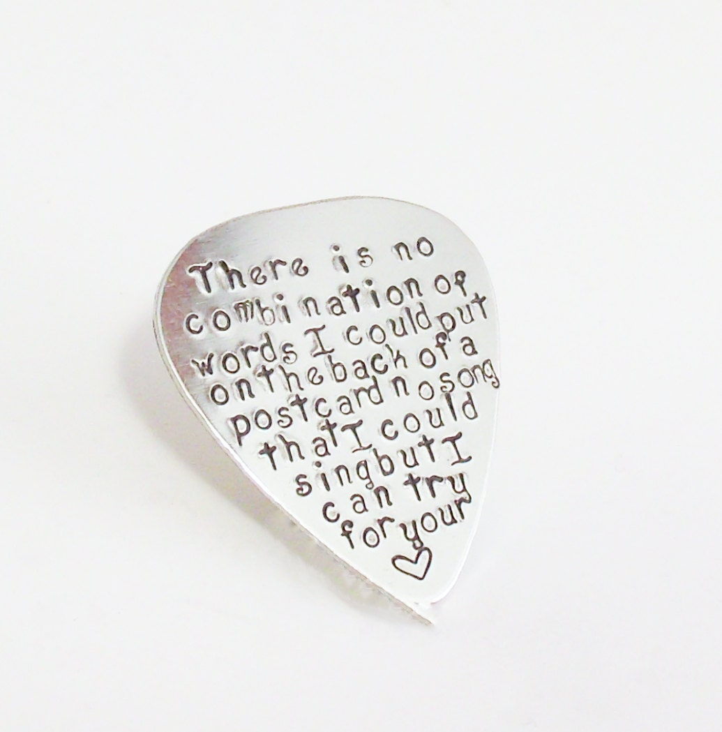 Love Quotes For A Wedding Gift : Love quotes Guitar Pick-Perfect Gift for a Grooms Wedding gift-husband ...
