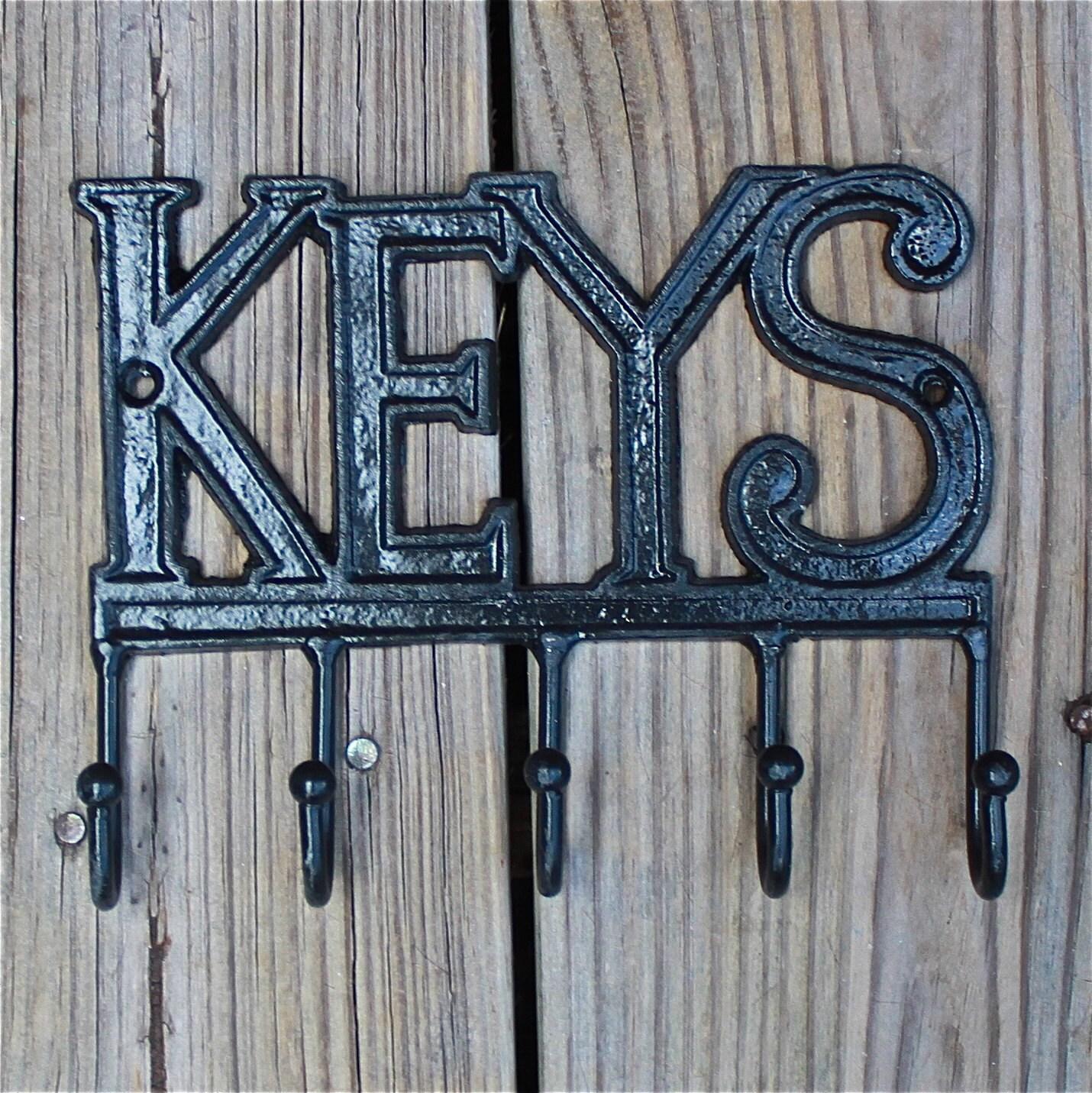 Cast Iron Keys Hanger Black Key Rack Bright By
