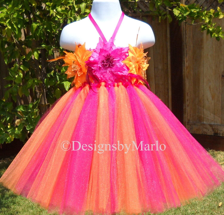 Hot pink and orange flower girl dresses discount wedding dresses hot pink and orange flower girl dresses 5 mightylinksfo