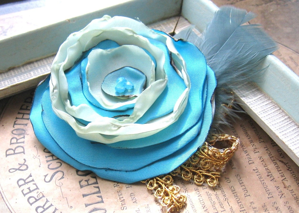 A Wild Flower Brooch Forgotten Ball Gown with  Gold