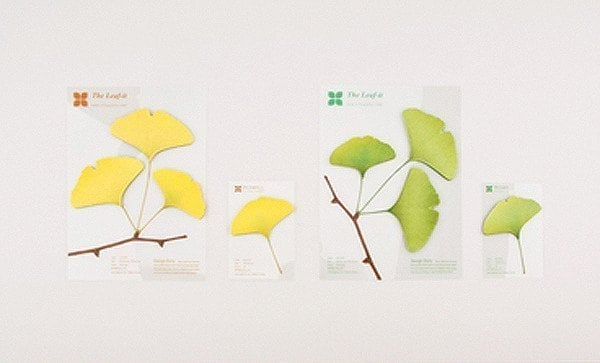 The Ginkgo Leaf post-It (small)