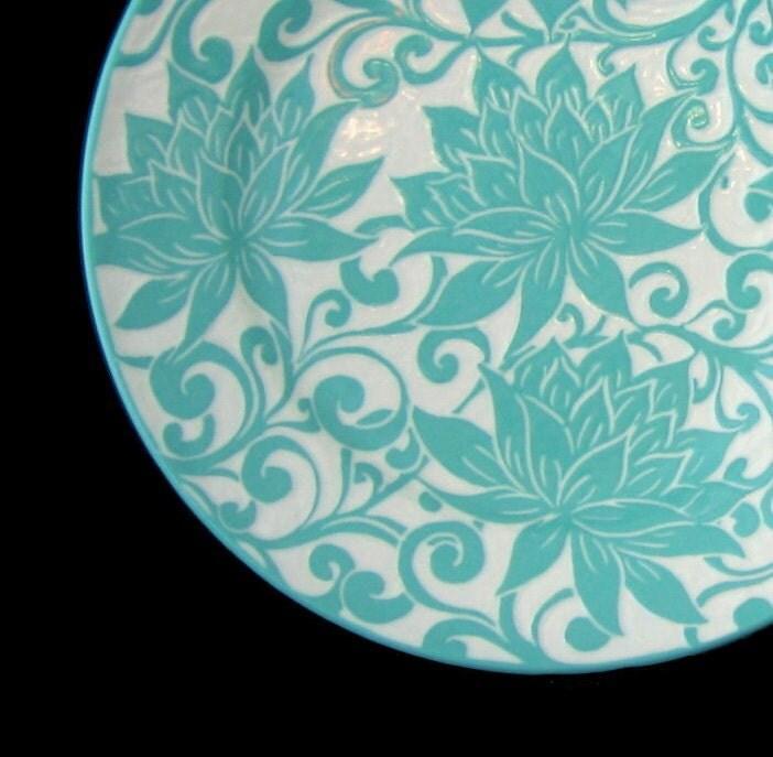 Lotus... 12 inch Porcelain Platter... In Stock