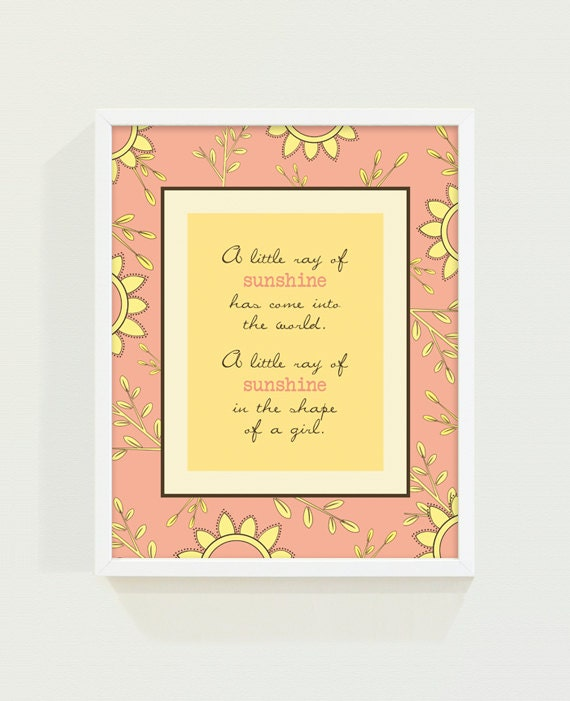A Little Ray of Sunshine Girls Print