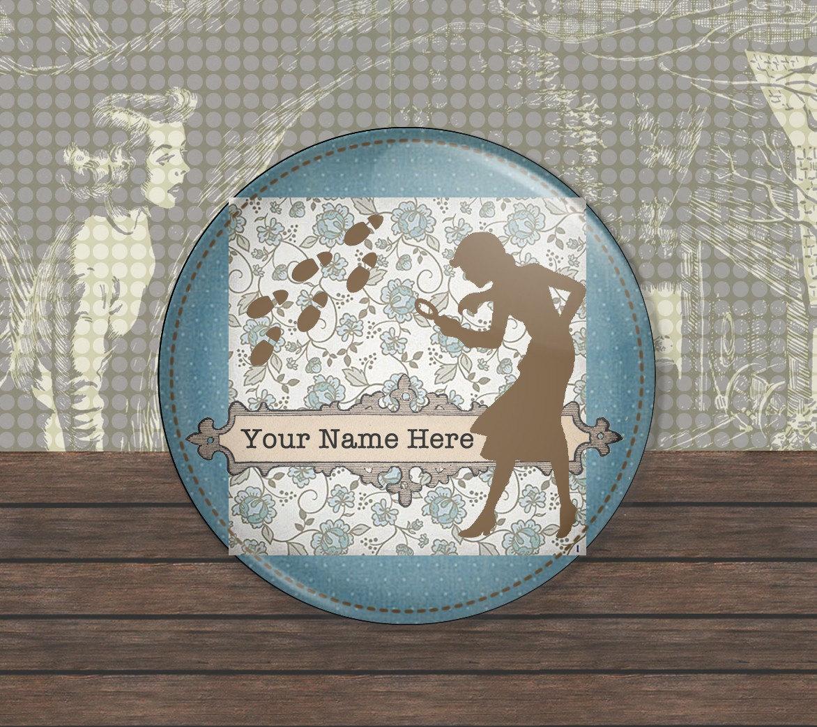 "Nancy Drew - Personalized 2 1/4"" Mirror Back Button"