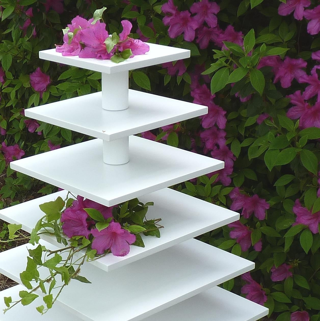 Square 5 Tier Cupcake Stand - Dessert Tower