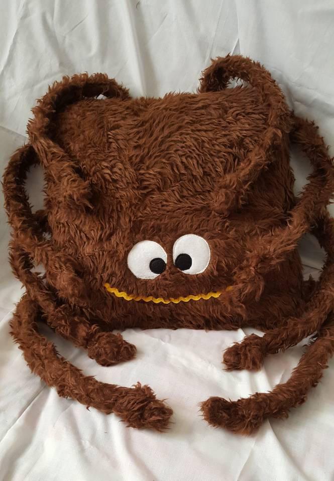 Spider cushion Spider huggle buddy  Halloween  spider soft toy  Kids bedroom  Furry Spider  Handmade Gift