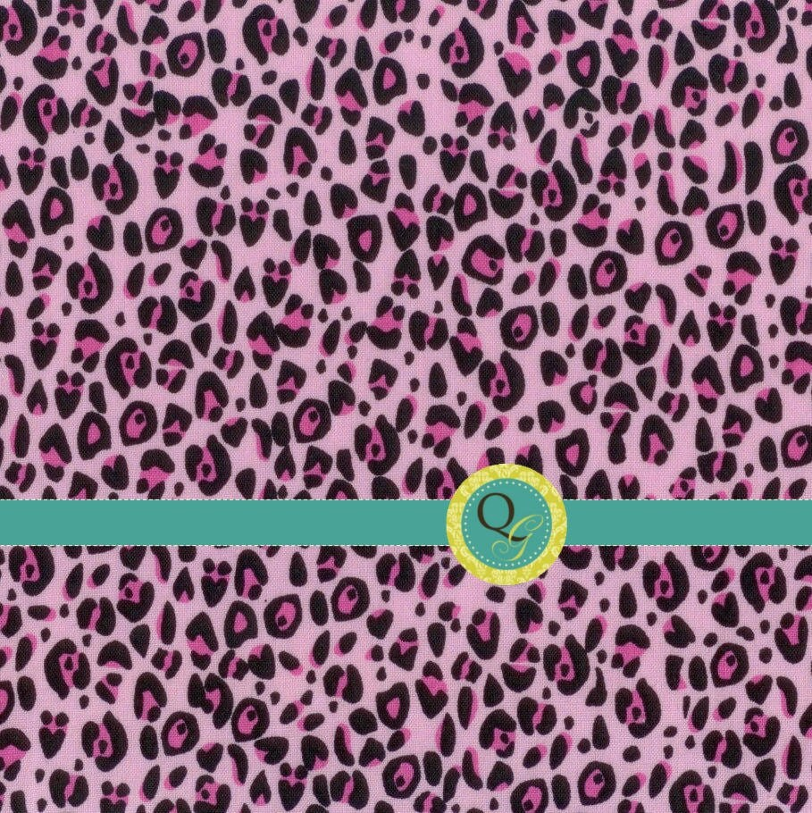Items similar to designer fabric by the yard pink cheetah for Designer animal print fabric
