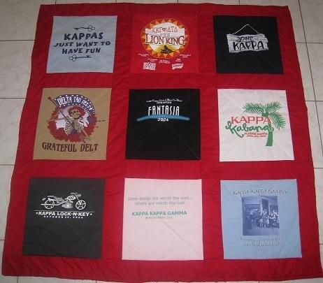 9 Shirt T-Shirt Quilts
