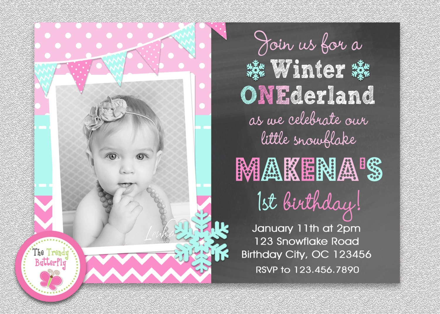 Winter Wonderland Birthday Invitations could be nice ideas for your invitation template