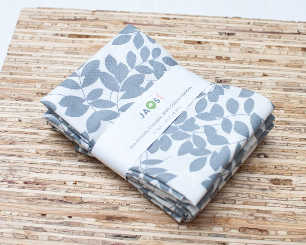 Eco-Friendly Large Cloth Napkins - Set of 4 - (N441) - JAQSstudio