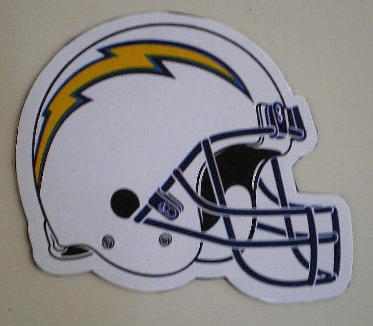 San Diego Chargers Football Helmet: 2013 San Diego Chargers Decal Football Helmet By