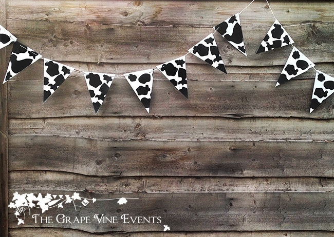 Cow Print Bunting PRINTABLE PDF - TheGrapeVineEvents