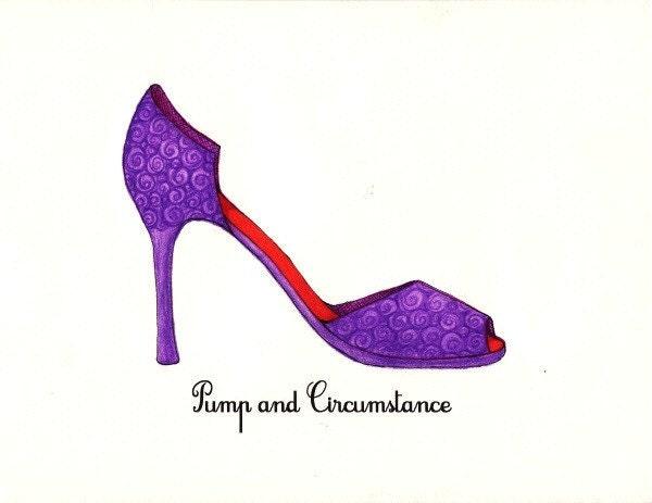 Pump and Circumstance Shoe Fashion Illustration