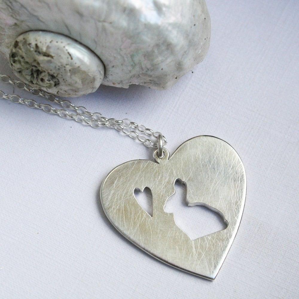 rabbit necklace necklace bunny pendant by lolaandcash