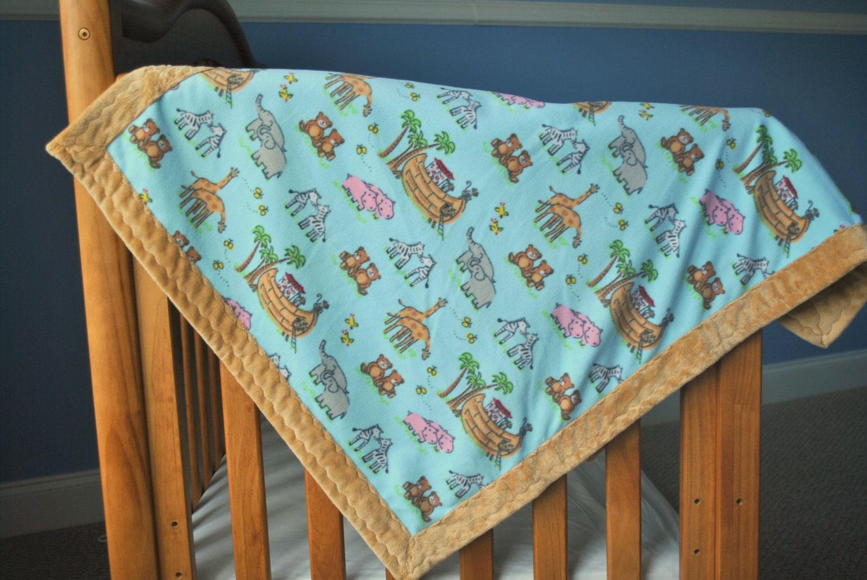 Animal print baby boy blanket quilt fabric minky fleece ebay for Quilt material for boys
