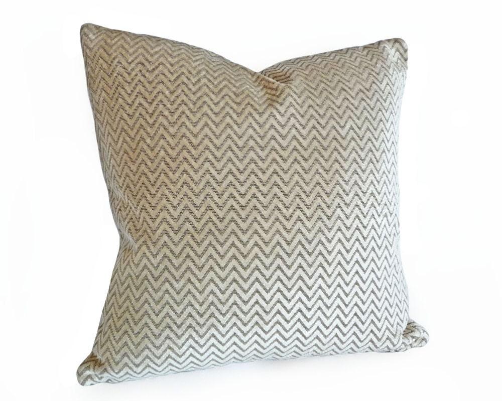 Luxury Velvet Chevron Pillow Contemporary by PillowThrowDecor