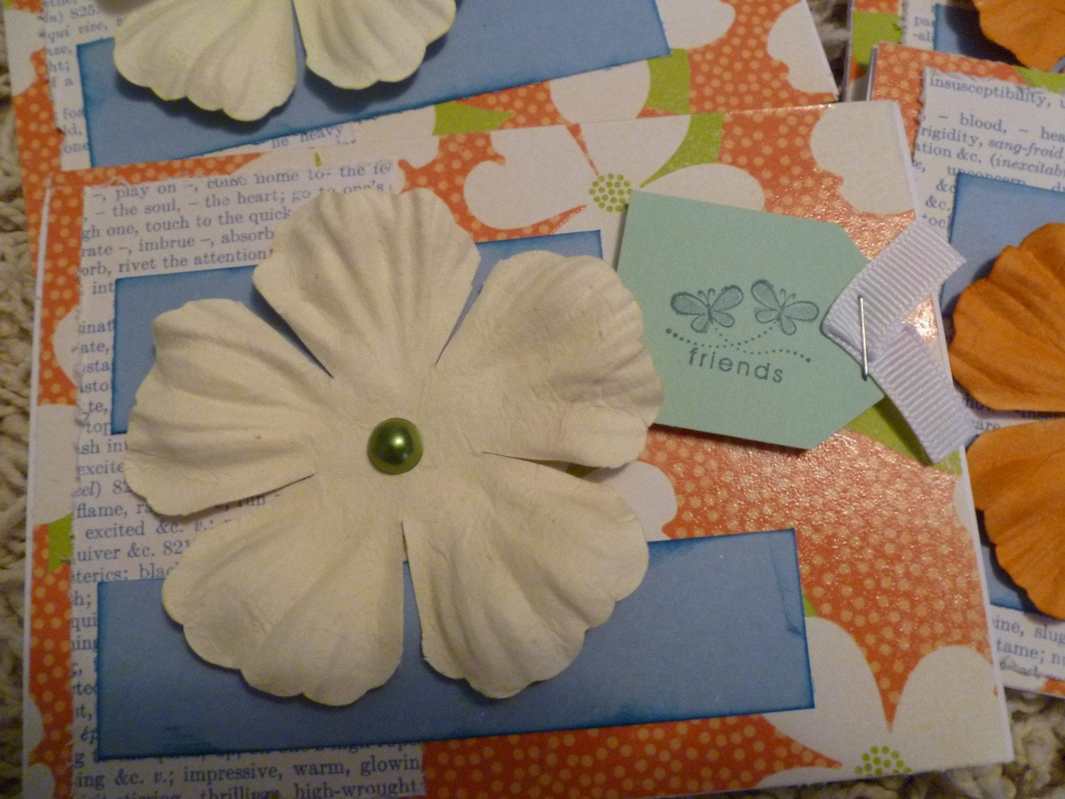 Tangerine Friendship set of 6 cards with envelopes