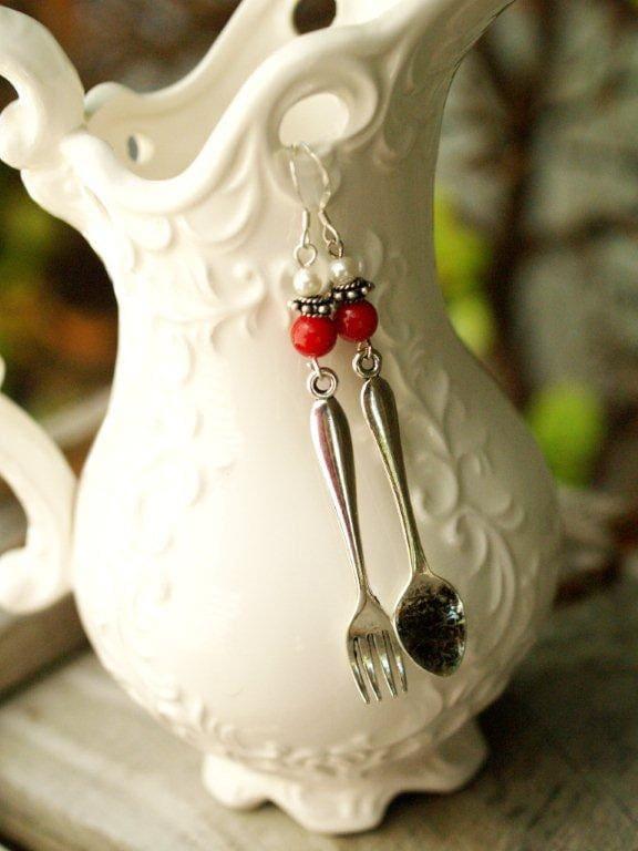 Cucina Earrings in Red