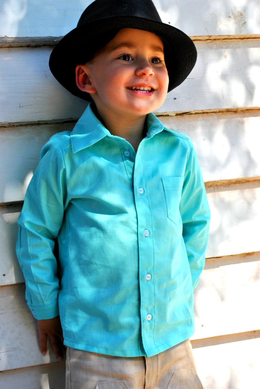 items similar to boys dress shirt boys aqua shirt