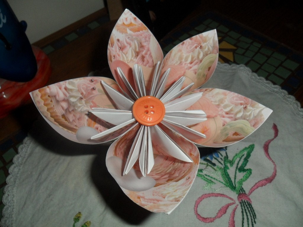 on Etsy center piece ornament origami table decorations