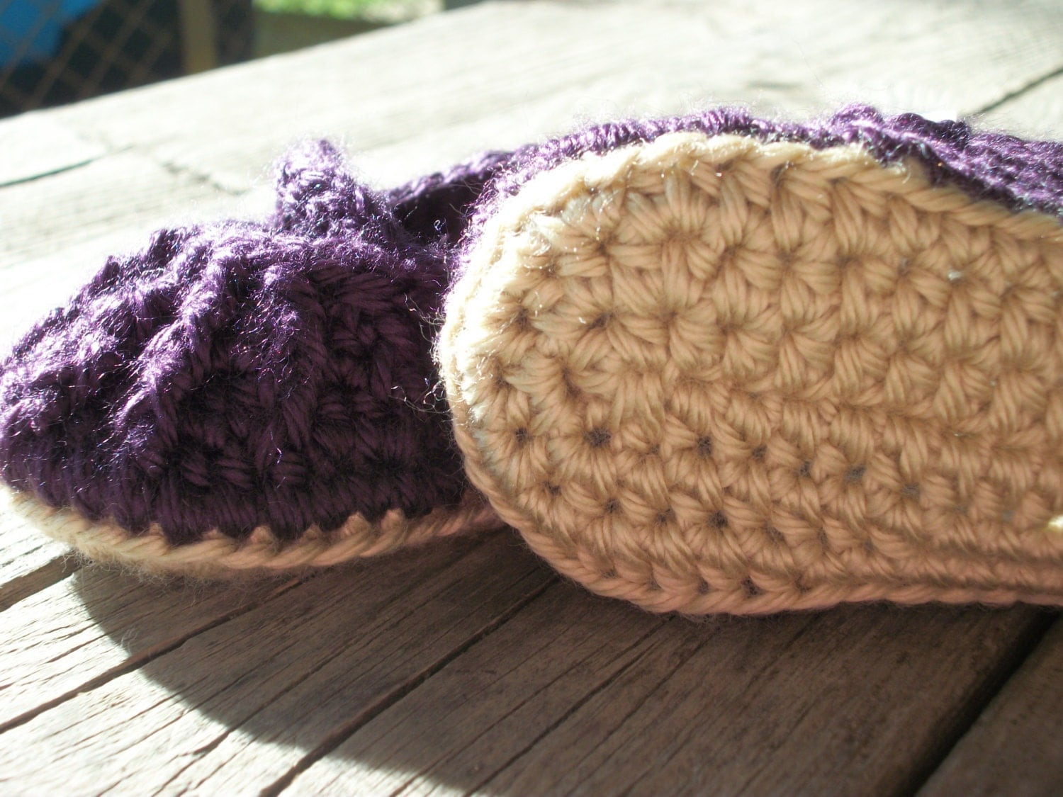 Crochet Mary Jane Baby Booties/ 0-6 Months