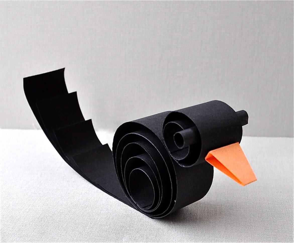 Halloween Series - BOO Black Bird - Place setting, home decor, dark wedding,