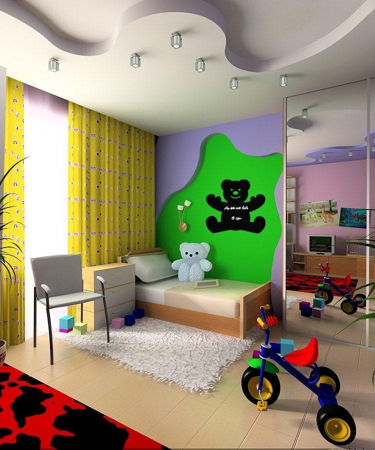 کودکان و نوجوانان وینیل دیوار هنر تدی تخته سیاه وینیل اتاق پرستاری کودکان و نوجوانان کلاس درس اتاق بازی