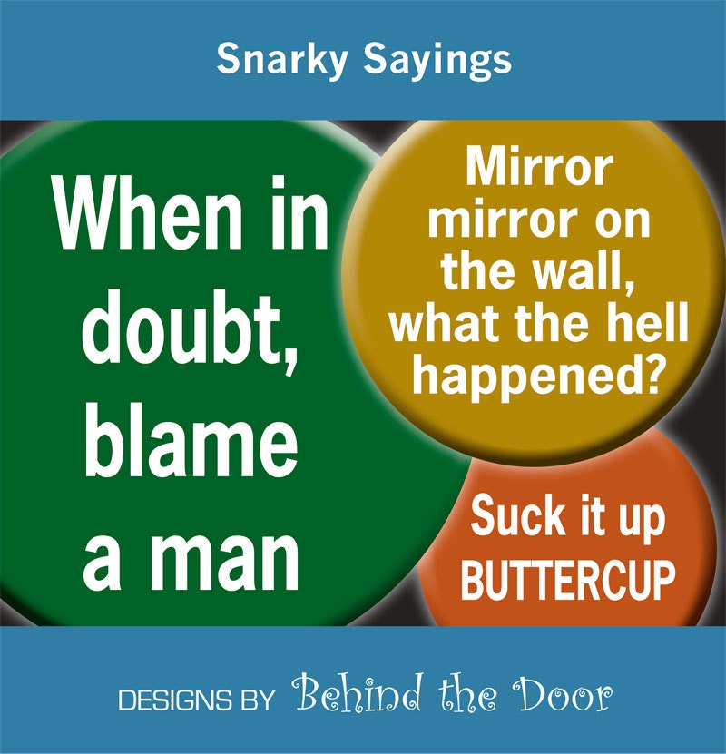 Snarky Sayings Digital Collage Sheet 1 inch by BehindTheDoor
